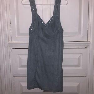 Blue/gray studded dress NWT